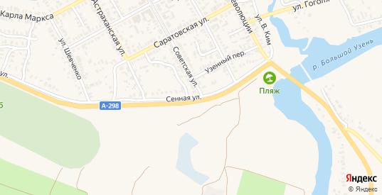 Сенная улица в Новоузенске с номерами домов на карте. Спутник и схема онлайн