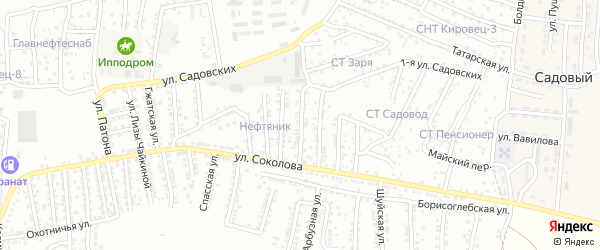Переулок 3-й Соколова на карте Астрахани с номерами домов