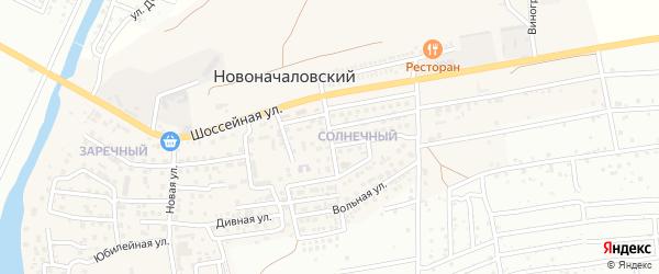 Пригородная улица на карте Новоначаловский поселка Астраханской области с номерами домов