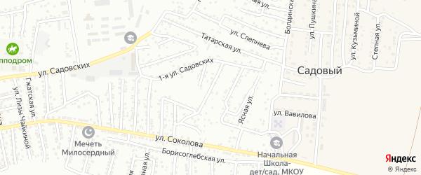 1-й Майский переулок на карте Астрахани с номерами домов