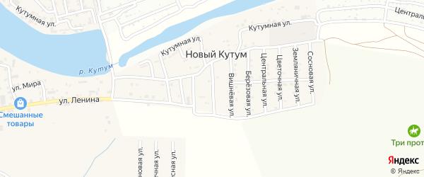 Абрикосовая улица на карте поселка Нового Кутума Астраханской области с номерами домов