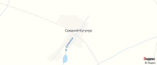 Карта деревни Среднего Кугунура в Кировской области с улицами и номерами домов