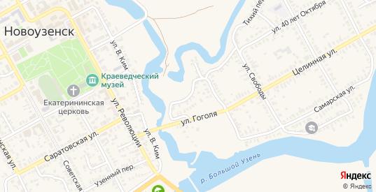 Переулок Гоголя в Новоузенске с номерами домов на карте. Спутник и схема онлайн