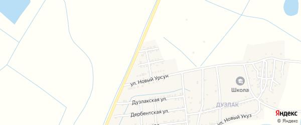 Улица Сулипа Н. на карте поселка Мамедкалы с номерами домов