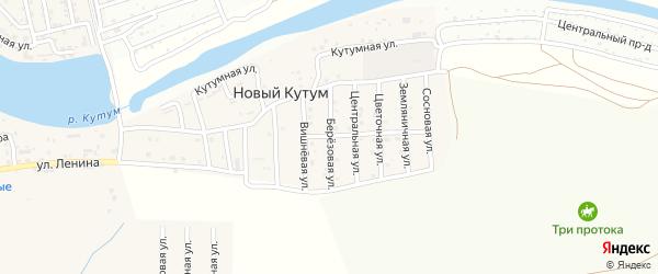 Березовая улица на карте поселка Нового Кутума Астраханской области с номерами домов