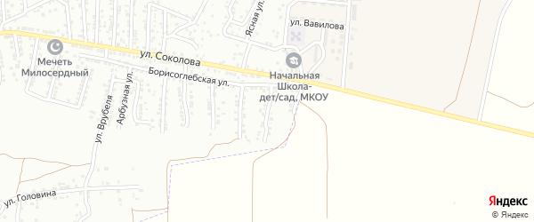 3-й Борисоглебский переулок на карте Астрахани с номерами домов