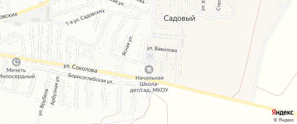 Школьная улица на карте Садового поселка Астраханской области с номерами домов