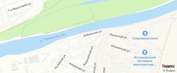 Албанский переулок на карте Астрахани с номерами домов