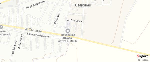 Молодежная улица на карте Садового поселка Астраханской области с номерами домов