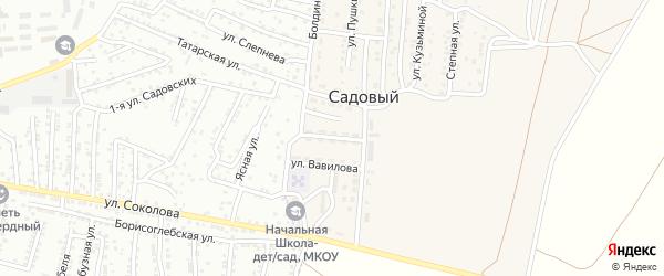 Улица Мичурина на карте Садового поселка Астраханской области с номерами домов
