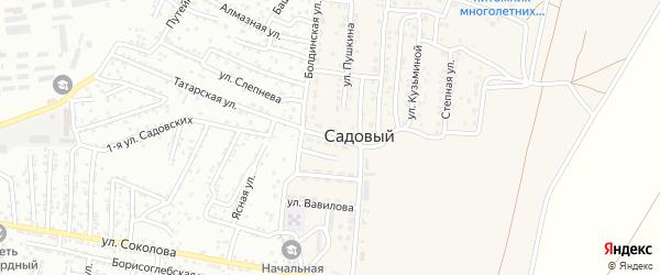 Улица Гагарина на карте Садового поселка Астраханской области с номерами домов