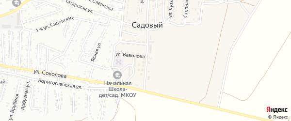 Улица им Академика Тимирязева на карте Садового поселка Астраханской области с номерами домов