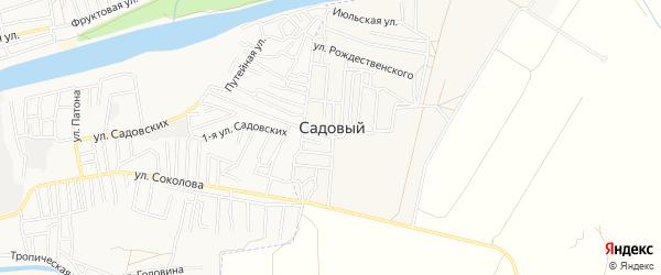 Садовое товарищество сдт Финик на карте Садового поселка Астраханской области с номерами домов