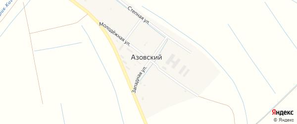 Западная улица на карте Азовского поселка Астраханской области с номерами домов