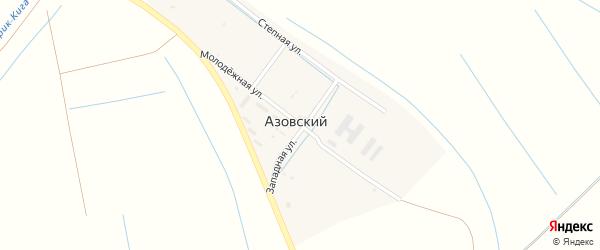Молодежная улица на карте Азовского поселка Астраханской области с номерами домов