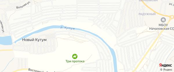 Садовое товарищество Ягодка на карте Астрахани с номерами домов