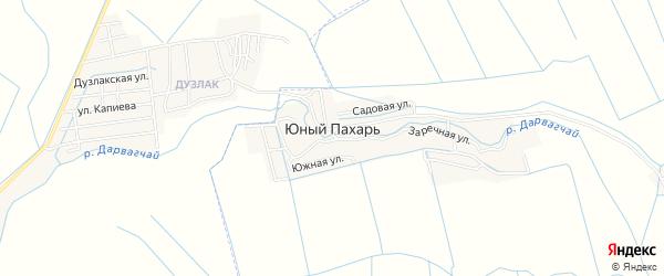 Карта села Юного Пахаря в Дагестане с улицами и номерами домов