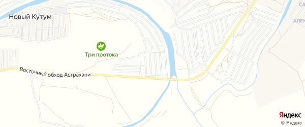 Садовое товарищество Электрик на карте Астрахани с номерами домов