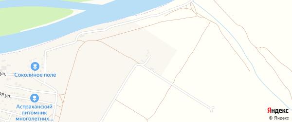 Яблоневая улица на карте Садового поселка Астраханской области с номерами домов
