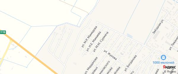 Улица Мустафы Ризаевича Мамедова на карте Дагестанских огней с номерами домов