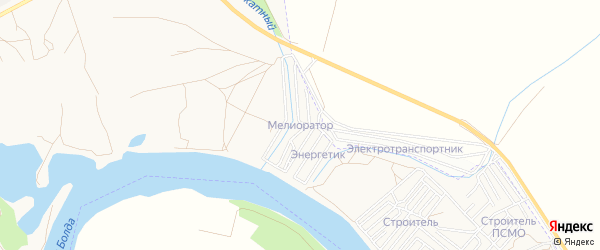 Садовое товарищество Мелиоратор на карте Астрахани с номерами домов