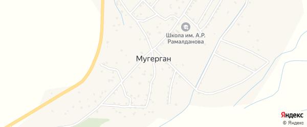 Улица Келбихана Гаджимагамедова на карте села Мугергана Дагестана с номерами домов