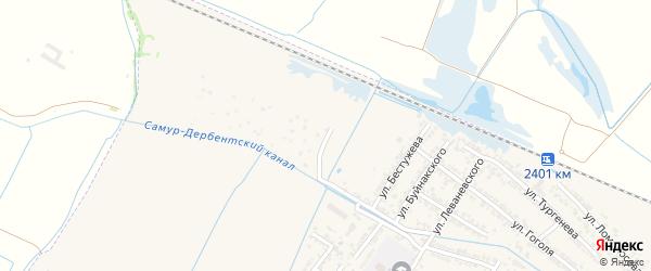 Улица Агасиева на карте Дагестанских огней с номерами домов