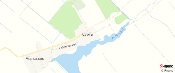 Карта села Сурты в Марий Эл с улицами и номерами домов