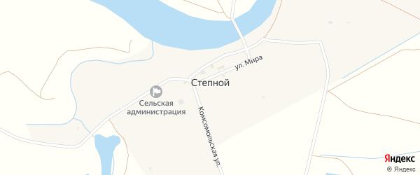 Улица Победы на карте Степного поселка Астраханской области с номерами домов