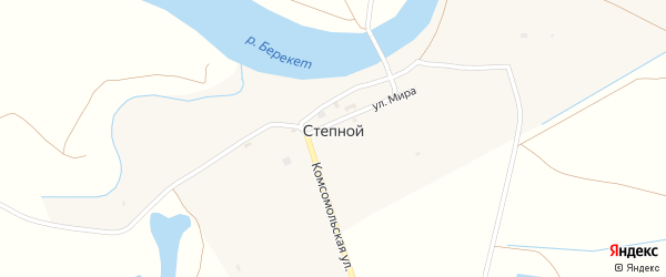 Зеленая улица на карте Степного поселка с номерами домов