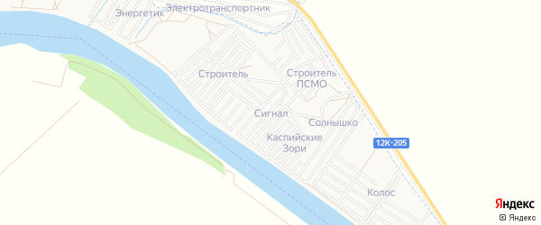 ГСК Сигнал на карте Астрахани с номерами домов