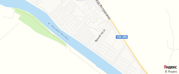 Садовое товарищество Каспийские зори на карте Астрахани с номерами домов