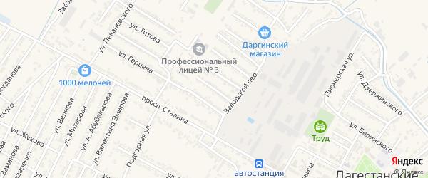 Красноармейская улица на карте Дагестанских огней с номерами домов