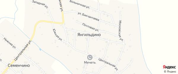 Совхозная улица на карте села Янгильдино с номерами домов