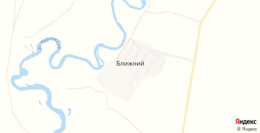 Карта хутора Ближний в Саратовской области с улицами, домами и почтовыми отделениями со спутника онлайн