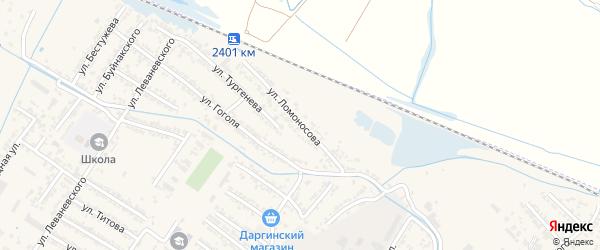 Переулок Михаила Васильевича Ломоносова на карте Дагестанских огней с номерами домов