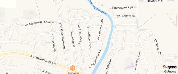 Улица Чайковского на карте села Началово с номерами домов