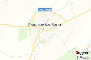 Карта с. Большие Кайбицы Республика Татарстан
