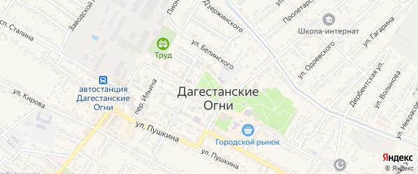Площадь Кирова на карте Дагестанских огней с номерами домов