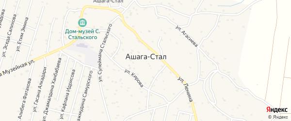 Улица Горького на карте села Ашага-Стала Дагестана с номерами домов