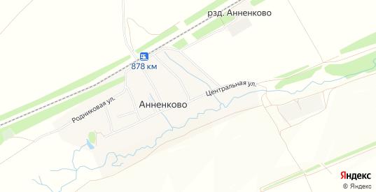 Карта села Анненково в Ульяновске с улицами, домами и почтовыми отделениями со спутника онлайн