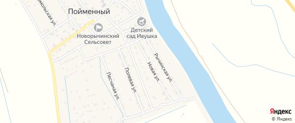 Новая улица на карте Пойменного поселка Астраханской области с номерами домов
