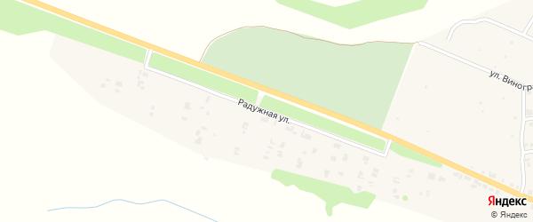 Радужная улица на карте Козловки с номерами домов