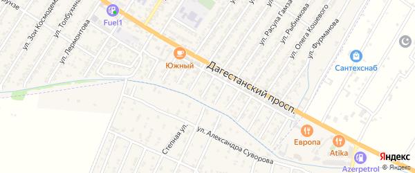 Вишневая улица на карте Дагестанских огней с номерами домов