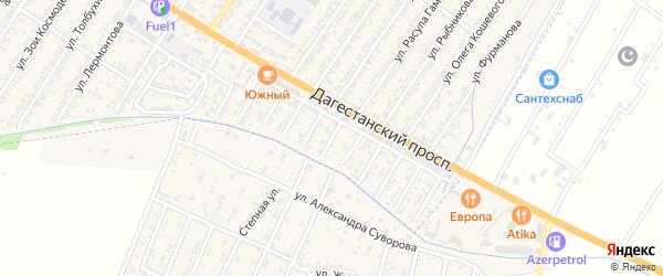 Виноградная улица на карте Дагестанских огней с номерами домов