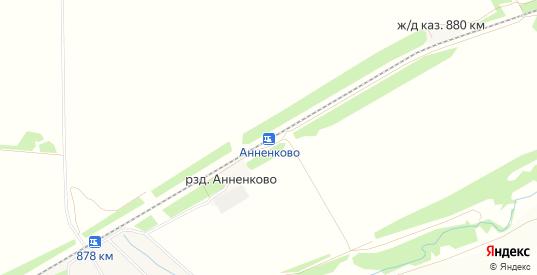 Карта разъезда Анненково в Ульяновске с улицами, домами и почтовыми отделениями со спутника онлайн