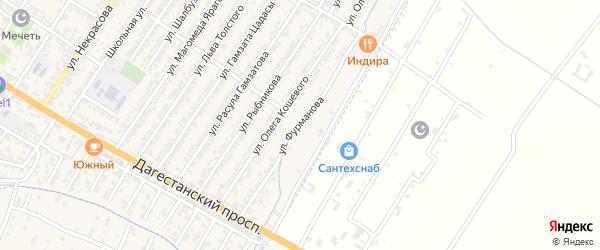Улица Д.А.Фурманова на карте Дагестанских огней с номерами домов