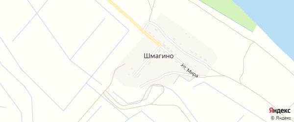 Молодежная улица на карте поселка Шмагино Астраханской области с номерами домов