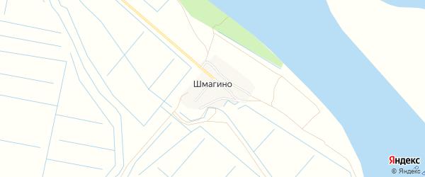Карта поселка Шмагино в Астраханской области с улицами и номерами домов