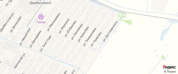 Улица Темирязева на карте Дагестанских огней с номерами домов